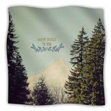 Happy Trails Microfiber Fleece Throw Blanket