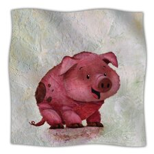This Little Piggy Microfiber Fleece Throw Blanket