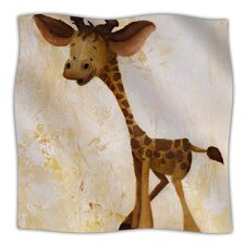 Georgey The Giraffe Microfiber Fleece Throw Blanket