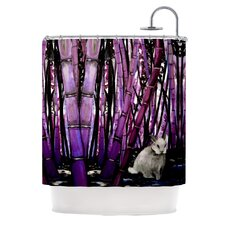 Bamboo Bunny Polyester Shower Curtain
