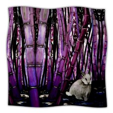 Bamboo Bunny Microfiber Fleece Throw Blanket