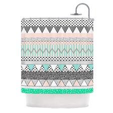 Chevron Motif Polyester Shower Curtain