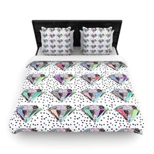 Polka Dot Diamonds by Vasare Nar Woven Duvet Cover