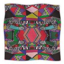 African Motif Microfiber Fleece Throw Blanket