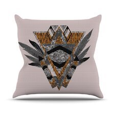 Indian Feather Throw Pillow