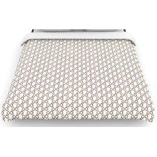 """Hexy Small"" Purple Geometric Woven Comforter Duvet Cover"