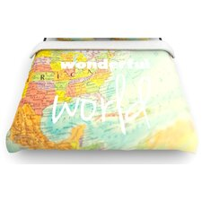 """What a Wonderful World"" Map Woven Comforter Duvet Cover"