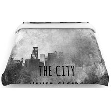 """The City Never Sleeps"" Woven Comforter Duvet Cover"