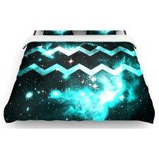"""""""Blue Star Chevron"""" Woven Comforter Duvet Cover"""
