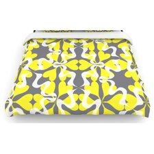 """""""Flowering Hearts"""" Woven Comforter Duvet Cover"""