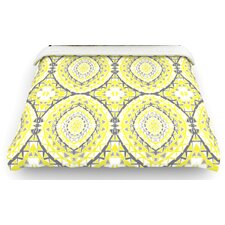 """Yellow Tessellation"" Woven Comforter Duvet Cover"