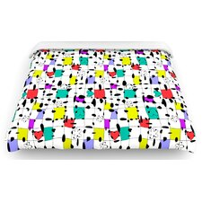 """""""My Happy Squares"""" Woven Comforter Duvet Cover"""