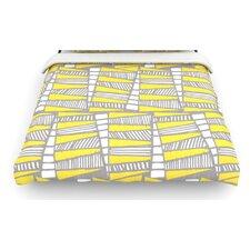 """Jaggi Yellow Grey"" Woven Comforter Duvet Cover"