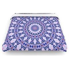 """Kaleidoscope Blue"" Circle Woven Comforter Duvet Cover"