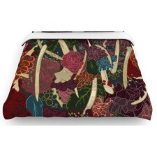 """""""New Life"""" Flowers Woven Comforter Duvet Cover"""