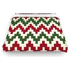 """""""Christmas Gram"""" Chevron Woven Comforter Duvet Cover"""
