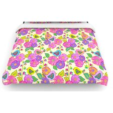 """My Birds and My Flowers"" Woven Comforter Duvet Cover"