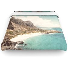 """Aloha"" Mountain Beach Woven Comforter Duvet Cover"