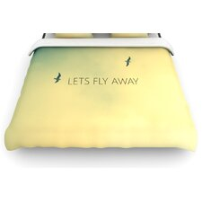 """Let's Fly Away"" Woven Comforter Duvet Cover"