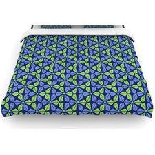"""""""Infinite Flowers Blue"""" Woven Comforter Duvet Cover"""