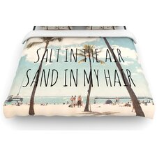 """Salt in the Air"" Beach Trees Woven Comforter Duvet Cover"