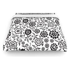 """""""Cherry Floral White"""" Woven Comforter Duvet Cover"""