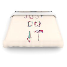 Just Do It by Vasare Nar Woven Duvet Cover