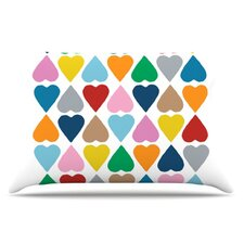 Diamond Hearts Throw Pillow