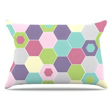Pale Bee Hex Pillowcase