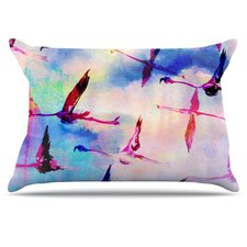 Flamingo in Flight Pillowcase