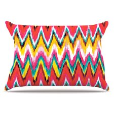 Painted Chevron Pillowcase