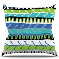 Salsa by Jacqueline Milton Throw Pillow