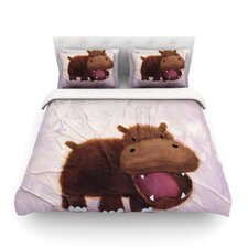 The Happy Hippo Cotton Duvet Cover