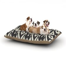 'Black Cream Tribal Ikat' Dog Bed