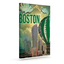 'Boston' by iRuz33 Graphic Art on Wrapped Canvas