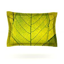 Every Leaf a Flower by Robin Dickinson Woven Pillow Sham