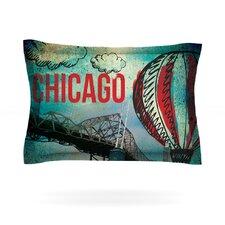 Chicago by iRuz33 Woven Pillow Sham
