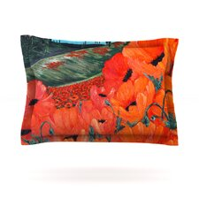 Poppies by Christen Treat Woven Pillow Sham
