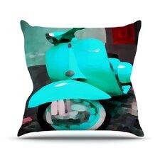 Vespa I Outdoor Throw Pillow