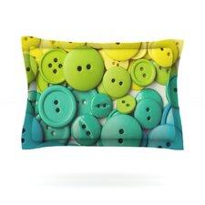 Cute as a Button Cotton Pillow Sham