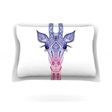 Rainbow Giraffe Cotton Pillow Sham