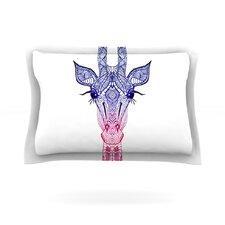Rainbow Giraffe by Monika Strigel Woven Pillow Sham