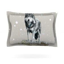 Wolf by Monika Strigel Woven Pillow Sham