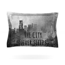 The City Never Sleeps Cotton Pillow Sham