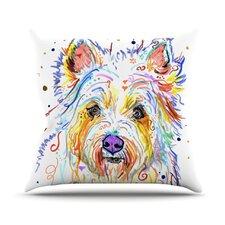 Bella Scottish Terrier Outdoor Throw Pillow