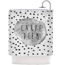 Carpe Diem Polyester Shower Curtain