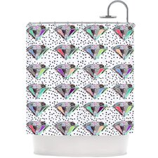 Polka Dot Diamond Polyester Shower Curtain