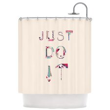 Just Do It Polyester Shower Curtain