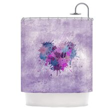 Painted Heart Polyester Shower Curtain