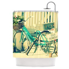 Just Married Polyester Shower Curtain